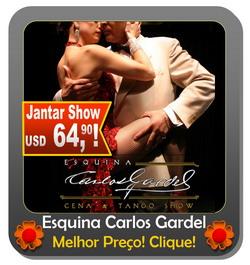 Jantar Tango Show Buenos Aires Esquina Carlos Gardel ingressos e mais informacao
