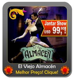Jantar Tango Show Buenos Aires El Viejo Almacen ingressos e mais informacao
