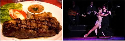 Show de Tango Homero Manzi carne argentina e casal de dance