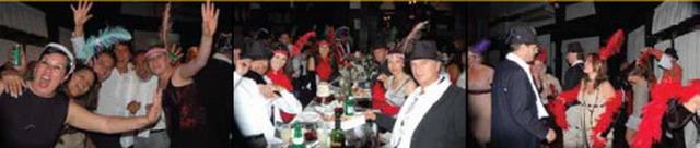 Ano nuevo en El Querandi Show de Tango en Buenos Aires público celebrando