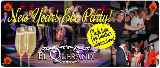 New Year's Eve Reveillon night El Querandi Tango Show in Buenos Aires